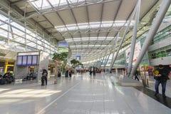 Dusseldorf airport interior Stock Photos