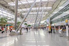 Dusseldorf airport interior Royalty Free Stock Image