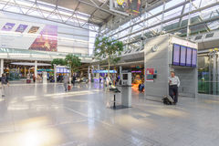 Dusseldorf airport interior Royalty Free Stock Photo