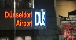 Dusseldorf Airport Signage stock footage