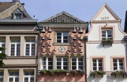 Dusseldorf Altstadt Klockor Arkivfoto