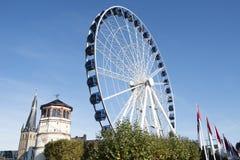 Dusseldorf - big wheel, Schlossturm Stock Image