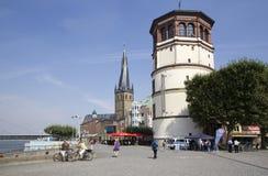 Dusseldorf Burgplatz royaltyfri fotografi