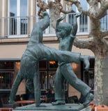 Dusseldorf - Cartwheel Fountain Stock Photography