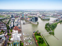 Dusseldorf city in Germany aerial view Royalty Free Stock Image