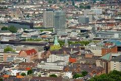 Dusseldorf da sopra fotografia stock libera da diritti