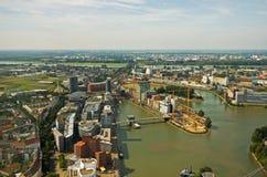 Dusseldorf da sopra fotografia stock