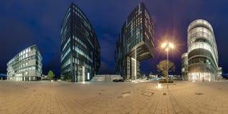 Dusseldorf an der Dämmerung Stockbild