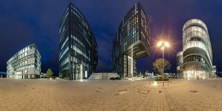 Dusseldorf at dusk Stock Image