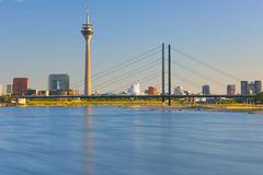 Dusseldorf in the evening Stock Photography