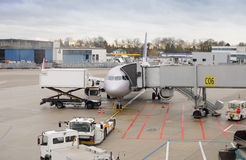 Dusseldorf-Flughafen, Deutschland Stockfoto