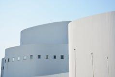 Dusseldorf, Germania - 13 agosto 2015: Dusseldorfer Schauspielhaus, una costruzione del teatro e società Fotografia Stock Libera da Diritti