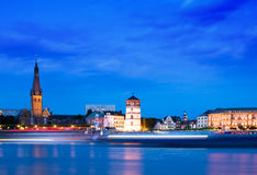 Dusseldorf, Germany. Dusseldorf Skyline at the Blue Hour Stock Photos