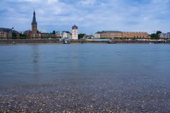 Dusseldorf, Germany. Panorama of Duesseldorf in Germany Royalty Free Stock Photography