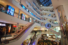 Shopping in Dusseldorf Royalty Free Stock Photography