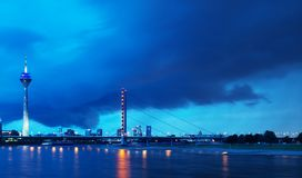 Dusseldorf Germany panoramic view Stock Photography
