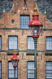 Dusseldorf, Germany. Street lamps Royalty Free Stock Photo
