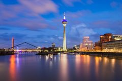 Dusseldorf harbour skyline, Germany royalty free stock image