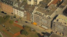 Dusseldorf from the height of bird flight stock video footage