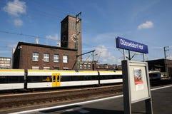 Dusseldorf huvudstationsplattform Fotografering för Bildbyråer