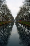 Dusseldorf kanał fotografia royalty free