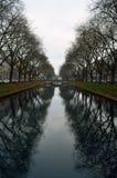 Dusseldorf kanal royaltyfri fotografi