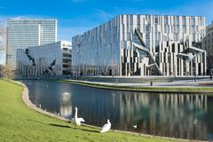 Free Dusseldorf - Libeskind Architecture At Koe-Bogen  Royalty Free Stock Photography - 106644547