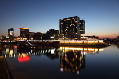 Dusseldorf Media Harbor in Germany Stock Photo