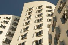 Dusseldorf Media Harbor. Modern Buildings of Düsseldorf Germany royalty free stock image