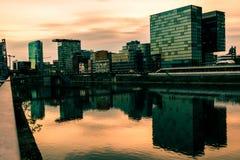 Dusseldorf Medienhafen Stockfotografie