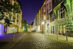dusseldorf natt Arkivbild