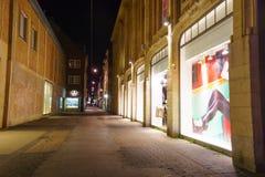 dusseldorf natt Royaltyfri Foto