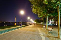 dusseldorf natt Royaltyfria Bilder