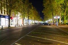 dusseldorf natt Royaltyfri Fotografi