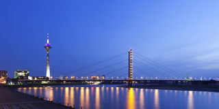 Dusseldorf at night Royalty Free Stock Images