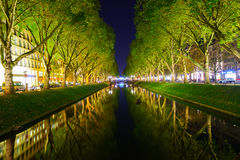 Dusseldorf at night Stock Photography