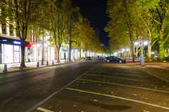Dusseldorf at night Royalty Free Stock Photography