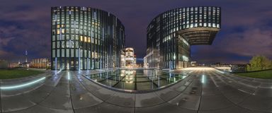 Dusseldorf no crepúsculo Foto de Stock