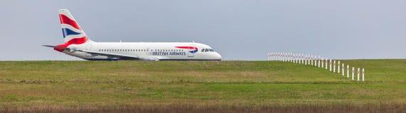 British airways airplane on ground at dusseldorf airport germany royalty free stock images
