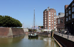 Dusseldorf old harbor, Germany Royalty Free Stock Photography