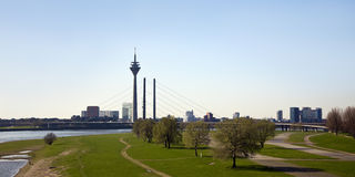 Dusseldorf Panorama Royalty Free Stock Images