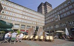Dusseldorf Plaza royaltyfri foto