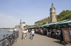 Dusseldorf promenad royaltyfri foto