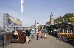 Dusseldorf Promenade Stock Images