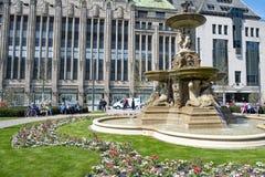 Dusseldorf - restroed fountain at Koenigsallee royalty free stock photo