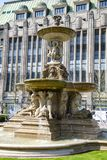 Dusseldorf - restroed fountain at Koenigsallee royalty free stock photography