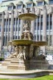 Dusseldorf - restroed springbrunn på Koenigsallee Royaltyfri Fotografi
