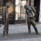 Conflict - sculpture in Dusseldorf Royalty Free Stock Photos