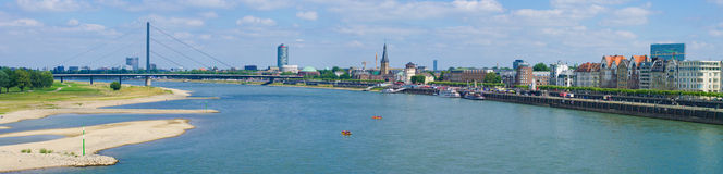 Dusseldorf skyline Stock Photography