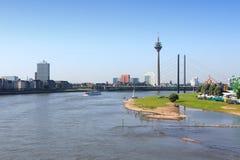 Dusseldorf skyline Stock Image